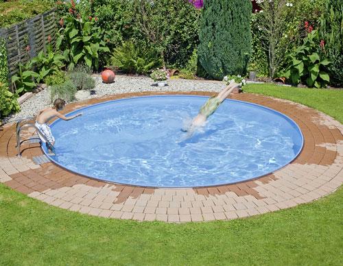 tiefes rundes pool komplett set mit sandfilter. Black Bedroom Furniture Sets. Home Design Ideas