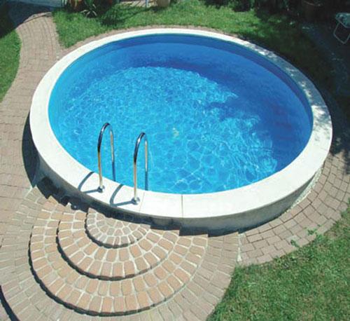 Super D&W Pool Schwimmbecken Komplett-Set rund Bari 500 cm - Tiefe 150 cm IP78