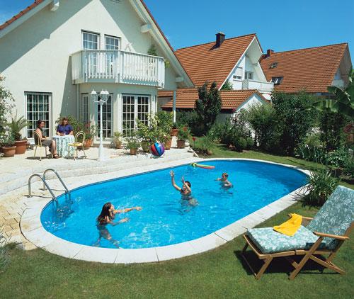 komplettes schwimmbecken set oval mit sandfilteranlage becken lago sb mit 737 x 360 cm tiefe. Black Bedroom Furniture Sets. Home Design Ideas