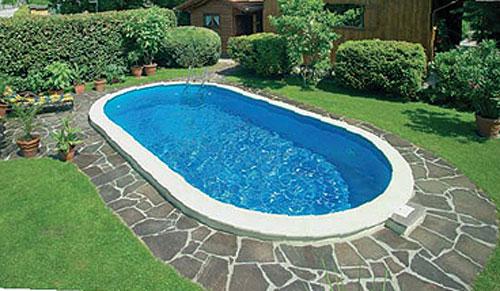 oval schwimmbecken komplett angebot lago sb einbau. Black Bedroom Furniture Sets. Home Design Ideas